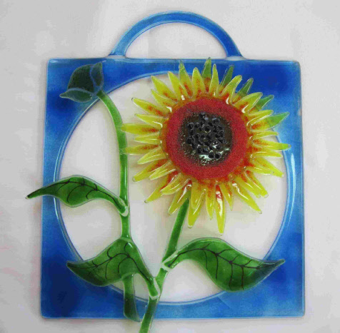 Sunflower wall or window hanging